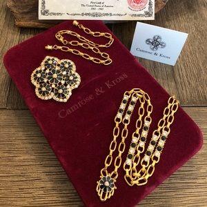 Camrose Kross Jacqueline Kennedy  Necklace Pin